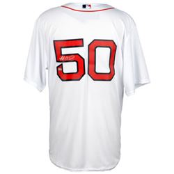 Mookie Betts Signed Red Sox Authentic Majestic Jersey (Fanatics)