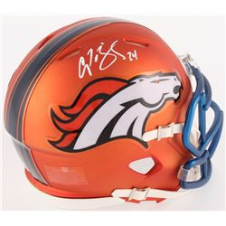 Champ Bailey Signed Broncos Mini Blaze Speed Helmet (Radtke COA)