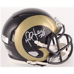 Marshall Faulk Signed Rams Mini Speed Helmet (Radtke COA)