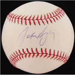 Jason Bay Signed OML Baseball (MLB Hologram  Mounted Memories Hologram)