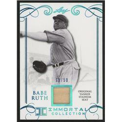 2016 Leaf Babe Ruth Collection Yankee Stadium Seat Gold #YS47 Babe Ruth