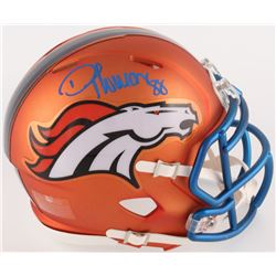 Demaryius Thomas Signed Broncos Mini Blaze Speed Helmet (Radtke COA)