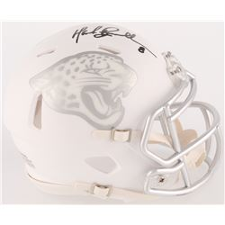 Mark Brunell Signed Jaguars Custom Matte White ICE Mini Speed Helmet (Radtke COA)