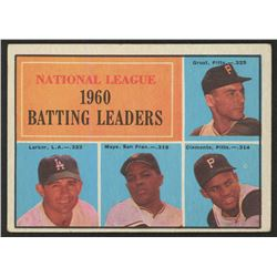 1961 Topps #41 NL Batting Leaders Dick Groat / Norm Larker / Willie Mays / Roberto Clemente