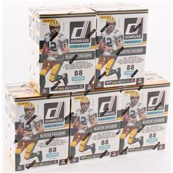 Lot of (5) 2016 Panini Donruss Football 11-Pack Box