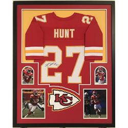Kareem Hunt Signed Chiefs 34x42 Custom Framed Jersey (JSA COA)