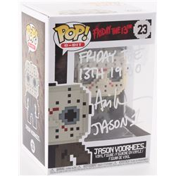 "Ari Lehman Signed Jason Voorhees #23 Funko Pop! 8-Bit Vinyl Figure Inscribed ""Friday the 13th 1980"""
