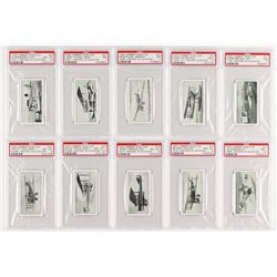 "1932 Lambert  Butler ""History of Aviation"" Complete Set of (25) PSA Graded Cigarette Cards"