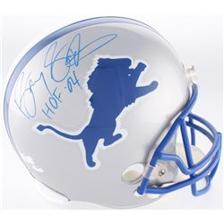 "Barry Sanders Signed Lions Full-Size Helmet Inscribed ""HOF 04"" (Radtke COA  Schwartz Hologram)"