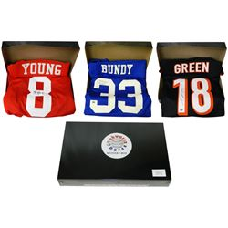 Schwartz Sports Football Superstar Signed Mystery Box Football Jersey  Series 6 - (Limited to 100)