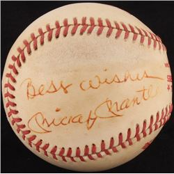 "Mickey Mantle Signed Official 1978 World Series Logo Baseball Inscribed ""Best Wishes"" (JSA LOA)"