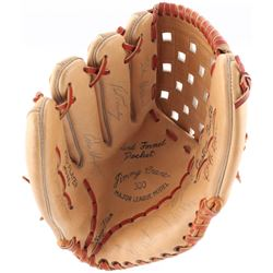 Old Timer's Day Game Baseball Glove Signed by (18+) With Mickey Mantle, Stan Musial, Yogi Berra, Wil