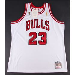 Michael Jordan Signed LE Bulls Authentic Mitchell  Ness Jersey (UDA COA)