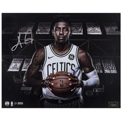 "Kyrie Irving Signed LE Celtics ""New Chapter"" 16x20 Photo (Panini COA)"