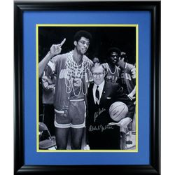Kareem Abdul-Jabbar  John Wooden Signed UCLA Bruins 23x27 Custom Framed Photo Display (Radtke COA)