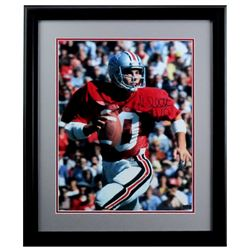 Art Schlichter Signed Ohio State Buckeyes 23x27 Custom Framed Photo Display (Radtke COA)