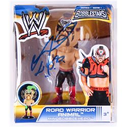 "Road Warrior Animal Signed WWE Mini Bobblehead Inscribed ""L.O.D."" (Legends COA)"