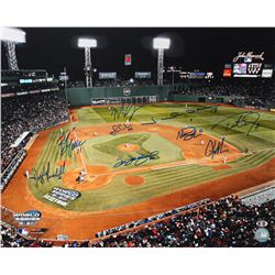 """2004 Boston Red Sox World Series """"First Pitch"""" 16x20 Photo Team-Signed by (9) with Manny Ramirez, Or"""