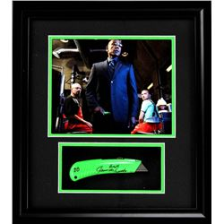 """Giancarlo Esposito Signed """"Breaking Bad"""" 17x19 Custom Framed Box Cutter Display Inscribed """"BB""""  """"Gus"""