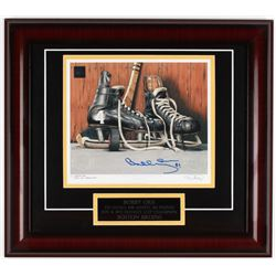 "Bobby Orr Signed 16x18 LE Artist Retouched ""Vintage Skates"" Custom Framed Lithograph Display (Great"