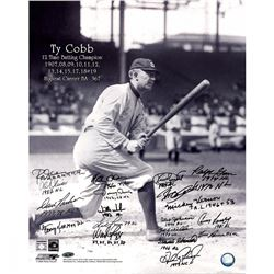 "Batting Champions ""Cobb Batting"" 16x20 Photo Signed by (19) with Kirby Puckett, George Kell, Matty A"