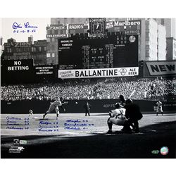 "Don Larsen Signed Yankees ""Perfect Game First Pitch"" 16x20 Photo (Steiner COA)"