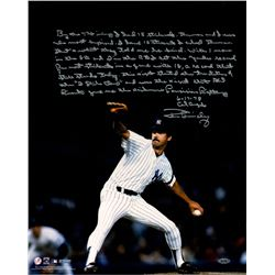"Ron Guidry Signed Yankees ""18 K Game"" 16x20 with Handwritten Story Inscription (Steiner COA)"