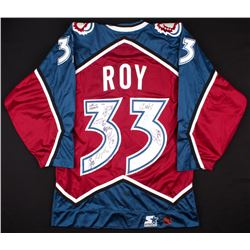 Patrick Roy Signed 2000-01 Avalanche Jersey with (9) Other Team-Member Signatures (PSA LOA)