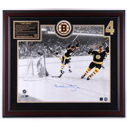Bobby Orr Signed Bruins 31.5x27.5 Custom Framed Photo Display (Great North Road COA)