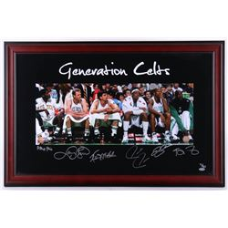 Celtics Generations LE 32.25x21.25 Custom Framed Photo Display Signed by (6) with Larry Bird, Robert
