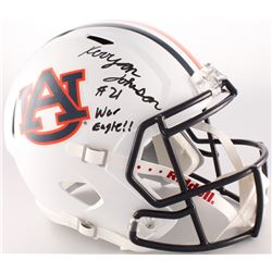 "Kerryon Johnson Signed Auburn Tigers Full-Size Speed Helmet Inscribed ""War Eagle!!"" (Radtke COA)"
