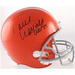 "Paul Warfield Signed Browns Full Size Throwback Helmet Inscribed ""HOF 83"" (Radtke COA)"