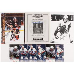 Photo Lot Signed by (6) With Mike Bossy, Darius Kasparaitis, Garth Snow  Others (Palm Beach COA)