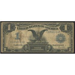 "1899 $1 One Dollar ""Black Eagle"" U.S. Silver Certificate Large Size Bank Note"