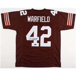 "Paul Warfield Signed Browns Jersey Inscribed ""HOF 83"" (Radtke COA)"