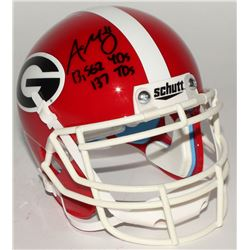 "Aaron Murray Signed Georgia Bulldogs Mini-Helmet Inscribed ""13,562 YDs""  ""137 TDs"" (Radtke COA)"