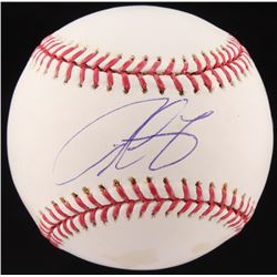 Derrek Lee Signed OML Baseball (Fanatics  Mounted Memories Hologram)