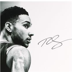 """Ben Simmons Signed LE 76ers """"Deliver"""" 15x36 Photo (UDA COA)"""