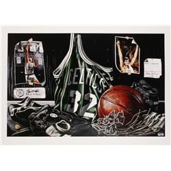 """Kevin McHale Signed LE """"Tribute to Greatness"""" 24x34 Lithograph (Fanatics Hologram)"""