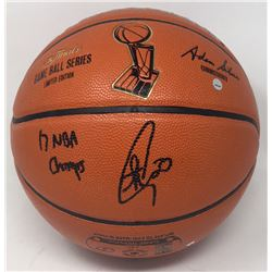 """Stephen Curry Signed LE NBA Finals Game Ball Series Basketball Inscribed """"17 NBA Champs"""" (Steiner CO"""
