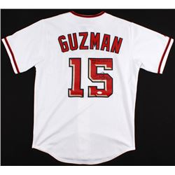 """Cristian Guzman Signed Nationals Jersey Inscribed """"Favre Has Nothing On Me...""""  (JSA COA)"""