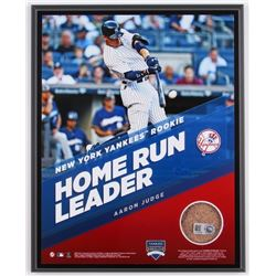 Aaron Judge Yankees 8x10 Plaque with Game-Used Dirt (Steiner COA  MLB)