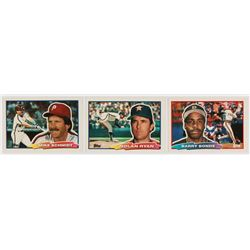 1988 Topps Big Complete Set of (265) Baseball Cards with #88 Mike Schmidt, #29 Nolan Ryan, #89 Barry