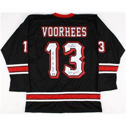 """Ari Lehman Signed Jason Voorhees Hockey Jersey Inscribed """"Friday the 13th 1980"""", """"No Lives Matter!"""""""