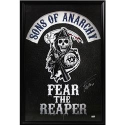 "Tommy Flanagan Signed Sons of Anarchy ""Fear the Reaper"" 42x49 Custom Framed Poster Display (Radtke C"