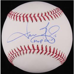 "Jason Giambi Signed OML Baseball Inscribed ""MVP 2000"" (JSA COA)"