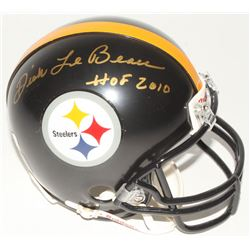 "Dick Lebeau Signed Steelers Mini Helmet Inscribed ""HOF 2010"" (Radtke Hologram)"