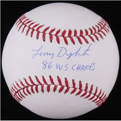 "Lenny Dykstra Signed OML Baseball Inscribed ""86 WS Champs"" (JSA COA)"