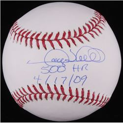"Gary Sheffield Signed OML Baseball Inscribed ""500 HR""  ""4/17/09"" (JSA COA)"