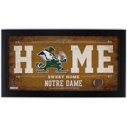 Notre Dame Fighting Irish 12x22 Framed Display with Notre Dame Stadium Dirt (Steiner COA)